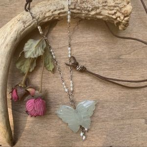 Jewelry - Necklace Handcrafted Butterfly Up-Cycled